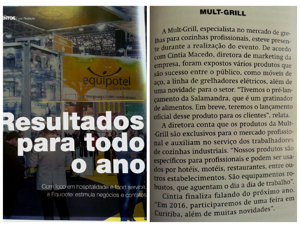 Mult-Grill na Equipotel 2015 Revista Food Service News