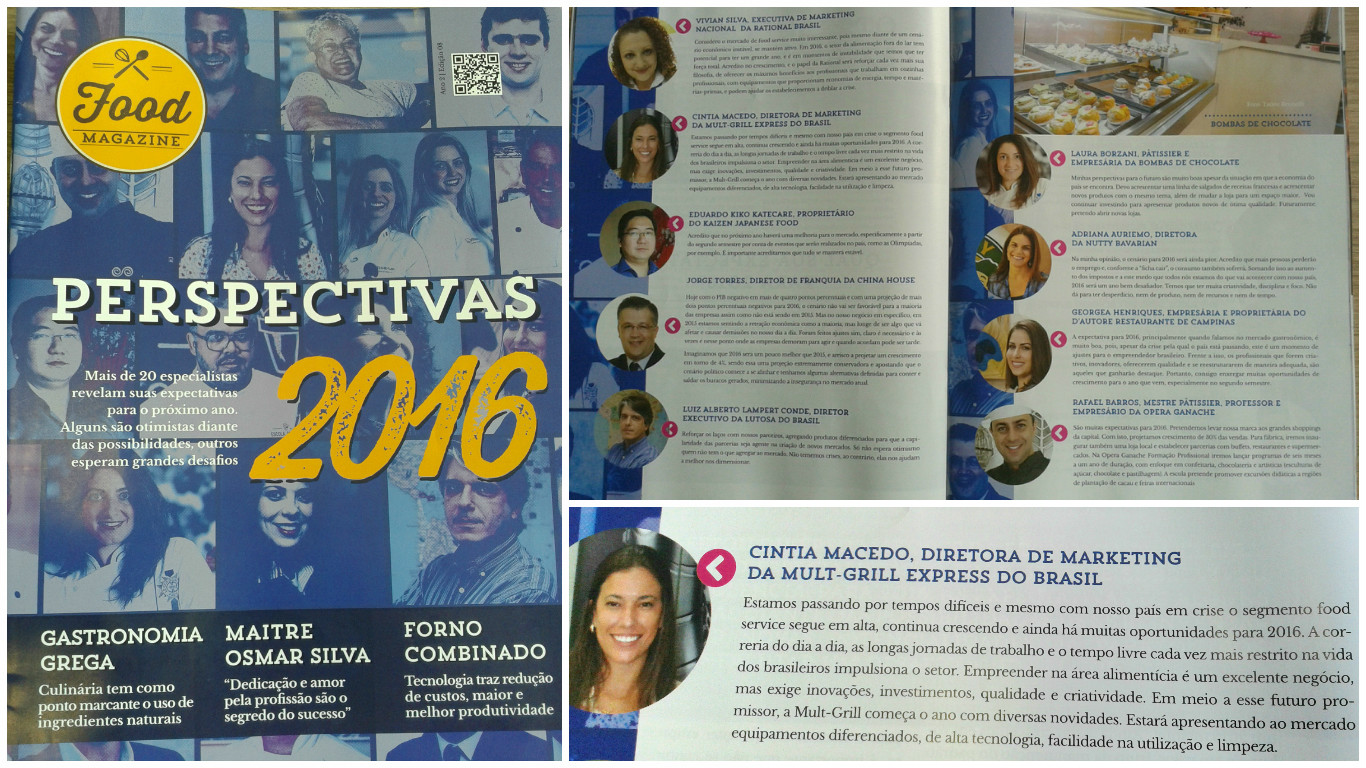 Perspectivas 2016 – Revista Food Magazine