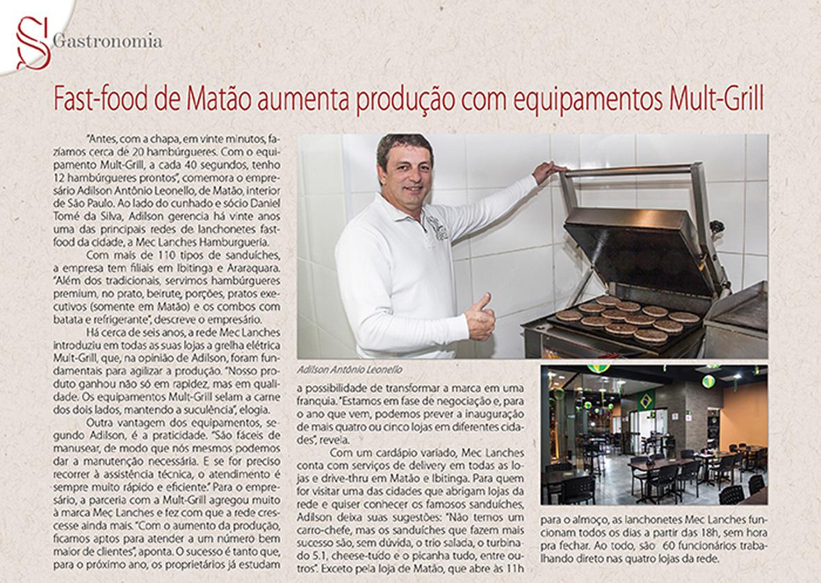 Mult-Grill + Mec Lanches de Matão – SP, uma parceria de SUCESSO!